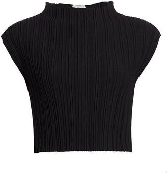 3.1 Phillip Lim Mushroom Pleated Mockneck Top