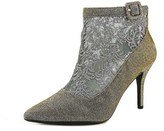J. Renee Haldana Women Pointed Toe Canvas Bronze Ankle Boot.