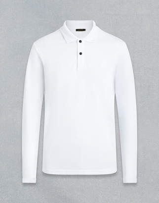 Belstaff LONG SLEEVED POLO SHIRT White