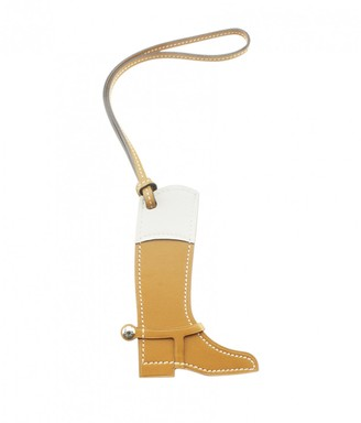 Hermes Paddock Brown Leather Bag charms