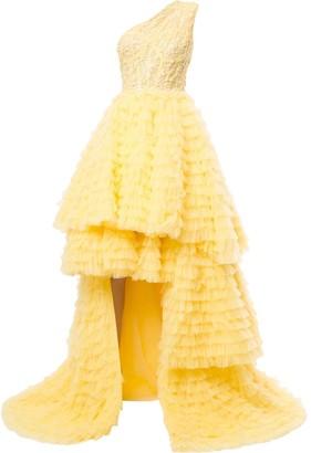 Saiid Kobeisy Asymmetric Flared Dress