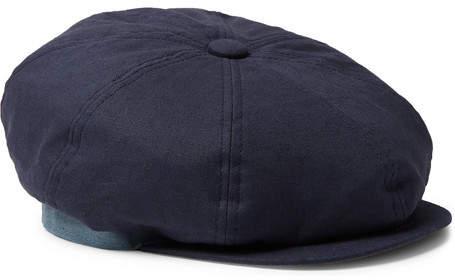 e4473a972 Linen Flat Cap - Men - Navy