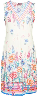 Hale Bob Sleeveless Floral Sheath Dress