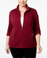 Karen Scott Plus Size Quilted Jacket, Only at Macy's