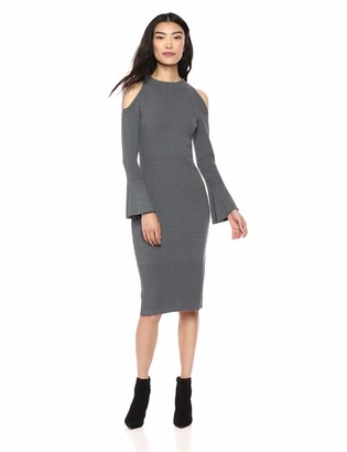 Lark & Ro Women's Long Sleeve Funnel Neck Sweater Dress