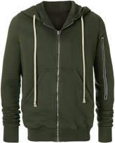 Rick Owens drawstring hooded jacket