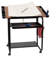 Flash Furniture Adjustable Drawing and Drafting Table Black