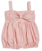 Isabel Garreton Baby's Big Bow Striped Romper