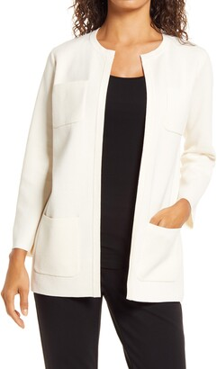 Anne Klein Patch Pocket Cardigan