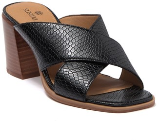 Susina Keli Embossed Faux Leather Sandal