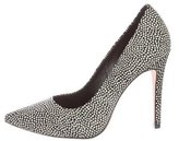 Alice + Olivia Embossed Leather Pointed-Toe Pumps