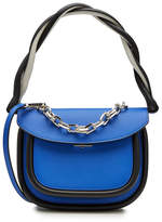 Marni Leather Shoulder Bag with Chain Embellishment