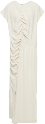 Totême Calvello Ruched Crepe Maxi Dress