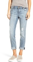 KUT from the Kloth Women's Catherine Distressed Frayed Hem Boyfriend Jeans