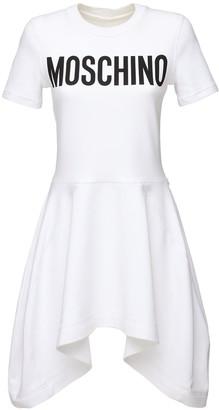 Moschino Logo Print Jersey Dress