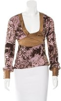 Just Cavalli Devoré Surplice Top