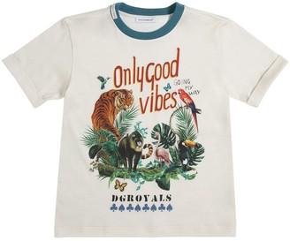 Dolce & Gabbana Jungle Print Cotton Jersey T-shirt