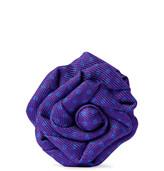 Charvet Polka-Dot Silk-Faille Flower Lapel Pin