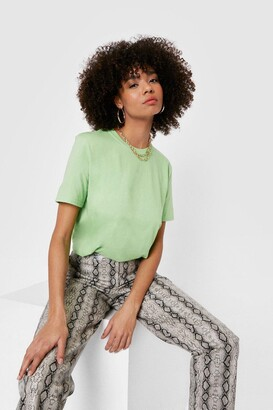 Nasty Gal Face the Facts Relaxed Tee - Orange - S, Orange