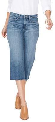 NYDJ Wide Leg Capri Jeans with Clean Hem - Rhodes