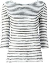 Majestic Filatures striped T-shirt - women - Linen/Flax - IV