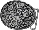 Buckle Rage Adult Womens Ornate Flowers Western Cowgirl Oval Belt Buckle