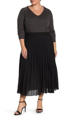 Max Studio Pleated Maxi Skirt (Plus Size)