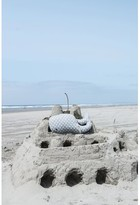 Donohoe Whale Shaped Knit with Polka Dots Cotton Throw Pillow Highland Dunes