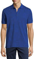 Etro Jersey Paisley Short-Sleeve Polo Shirt, Blue Pattern