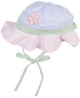 Florence Eiseman Striped Seersucker Sun Hat, Multicolor, Newborn