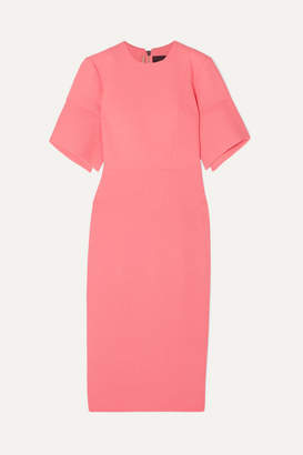 Roland Mouret Bancroft Wool-crepe Midi Dress - Peach
