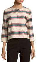 Max Mara Burano Striped Long-Sleeve Jackets