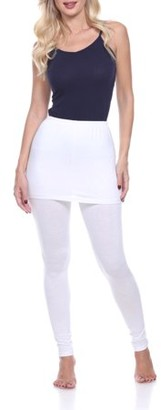 White Mark Women's Solid Skirted Leggings