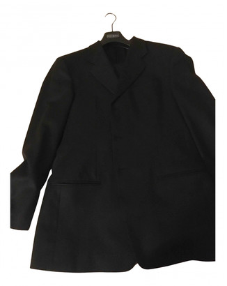 Armani Collezioni Anthracite Wool Suits