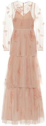 RED Valentino embroidered tulle gown