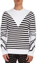 Balmain Striped Crewneck Sweater