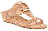 Donald J Pliner Daun Distressed Metal Cork Wedge Sandals