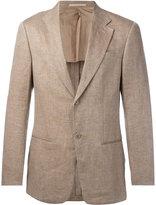 Armani Collezioni lightly checked blazer - men - Linen/Flax/Viscose - 48