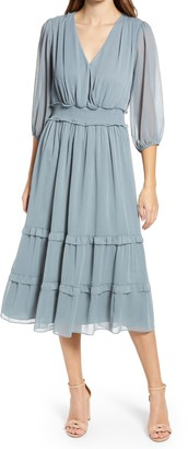 Ever New Tiered Smock Waist A-Line Dress