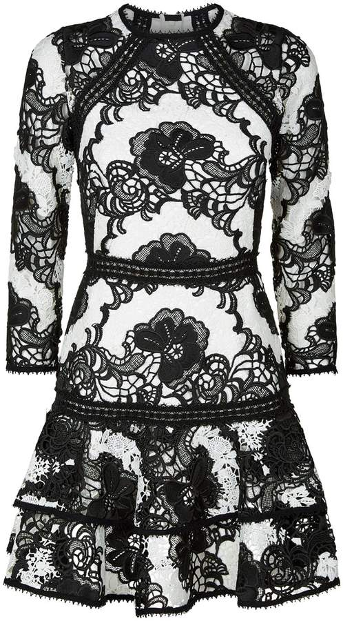 Alexis Sheena Monochrome Lace Dress