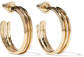 Eddie Borgo Trace Gold-plated Hoop Earrings - one size