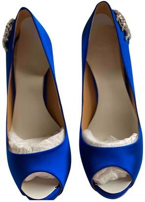 Badgley Mischka Blue Leather Heels