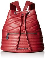 Armani Jeans Quilted Eco Leather Bucket Backpack