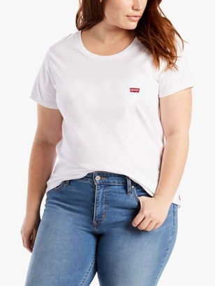 Levi's Plus Size The Perfect Batwing Logo T-Shirt, White