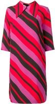 Marni striped pointed collar dress