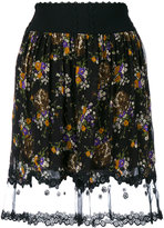 Coach floral-print skirt - women - Nylon/Polyester/Cupro - 0