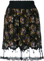Coach floral-print skirt