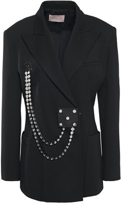 Christopher Kane Cupchain Crystal-embellished Twill Blazer