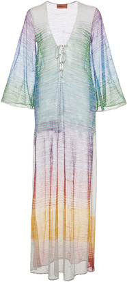 Missoni Mare Crochet-Knit Cover-Up Maxi Dress