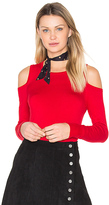 Central Park West Baxter Street Cold Shoulder Sweater in Red